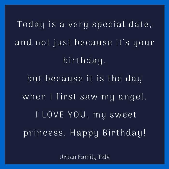 Today is a very special date, and not just because it's your birthday.but because it is the day when I first saw my angel. I LOVE YOU, my sweet princess. Happy Birthday!