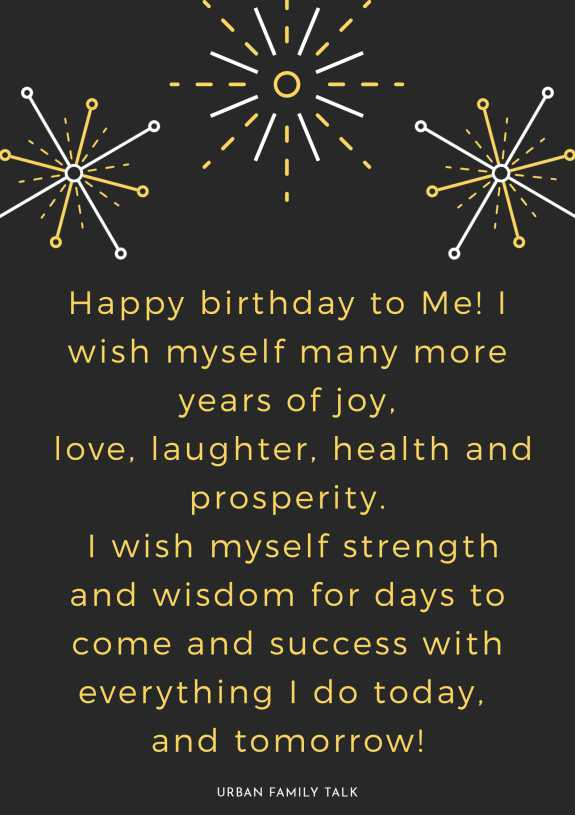 Happy birthday to Me! I wish myself many more years of joy, love, laughter, health and prosperity. I wish myself strength and wisdom for days to come and success with everything I do today, and tomorrow!
