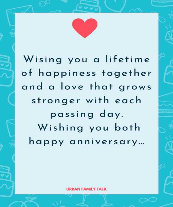 Wising you a lifetime of happiness together and a love that grows stronger with each passing day. Wishing you both happy anniversary…