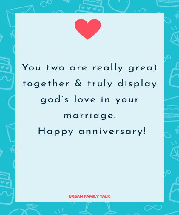 You two are really great together & truly display god's love in your marriage. Happy anniversary!