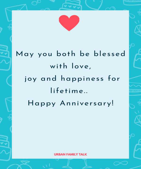 May you both be blessed with love, joy and happiness for lifetime.. Happy Anniversary!