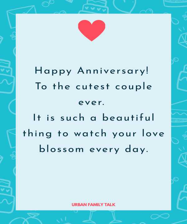 Happy Anniversary! To the cutest couple ever. It is such a beautiful thing to watch your love blossom every day.