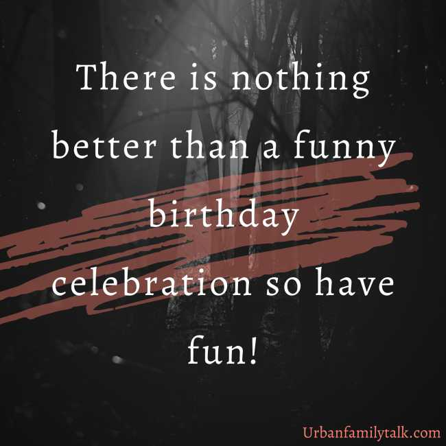 There is nothing better than a funny birthday celebration so have fun!