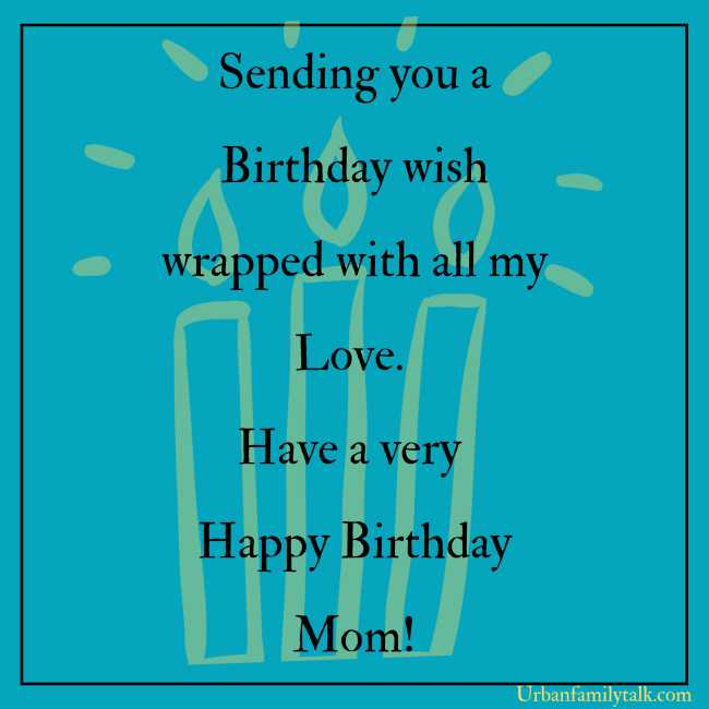 Sending you a Birthday wish wrapped with all my Love. Have a very Happy Birthday Mom!