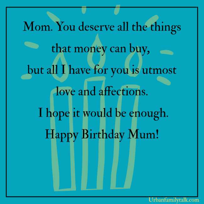 Throughout the years, Your love and support helped me to overcome lots of Problems in life. Thank you for taking my side when I was wrong. Wish you the Best birthday Mom!