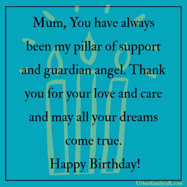 Thank you for the smiles and uncontrolled laughter, the love and kindness you have shown to me when I was little boy. Happy Birthday Mom!