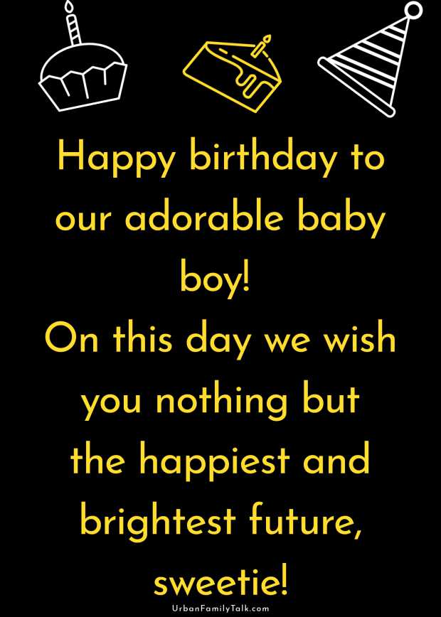 Happy birthday to our adorable baby boy! On this day we wish you nothing but the happiest and brightest future, sweetie!