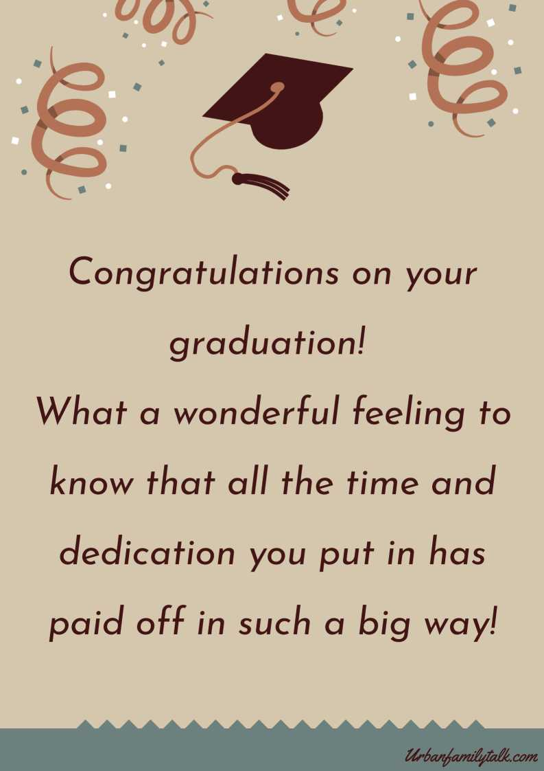 Congratulations on your graduation! What a wonderful feeling to know that all the time and dedication you put in has paid off in such a big way!