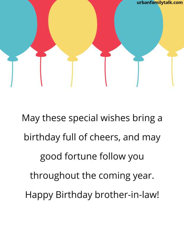 May these special wishes bring a birthday full of cheers, and may good fortune follow you throughout the coming year. Happy Birthday brother-in-law!