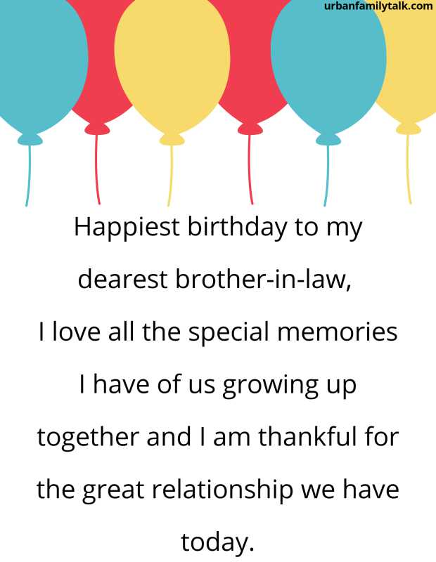 Happiest birthday to my dearest brother-in-law, I love all the special memories I have of us growing up together and I am thankful for the great relationship we have today.