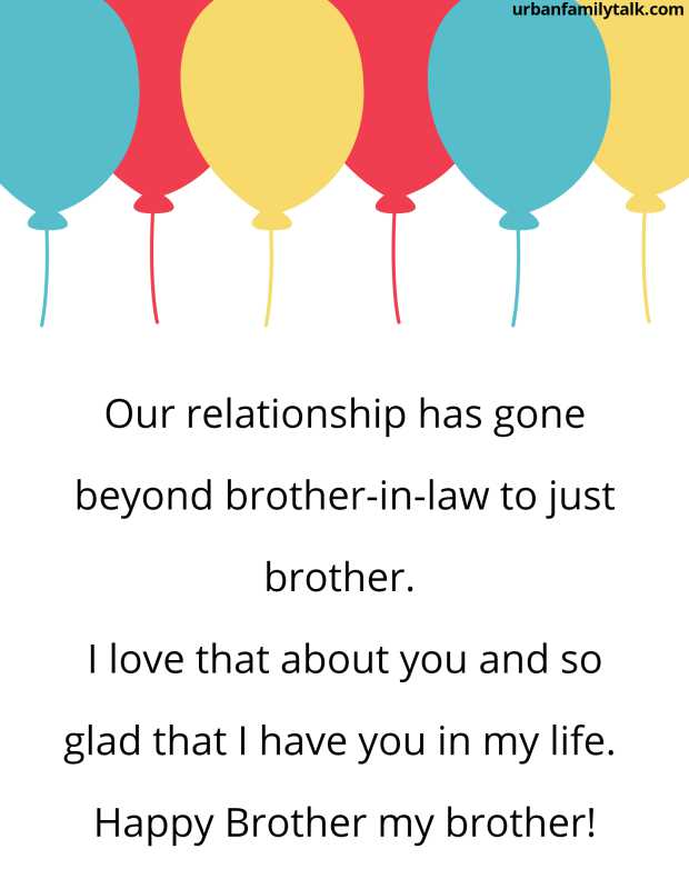 Our relationship has gone beyond brother-in-law to just brother. I love that about you and so glad that I have you in my life. Happy Brother my brother!