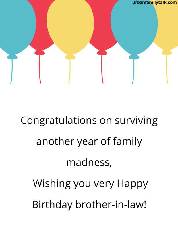 Congratulations on surviving another year of family madness, Wishing you very Happy Birthday brother-in-law!