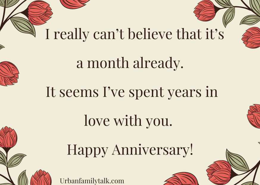 I really can't believe that it's a month already. It seems I've spent years in love with you. Happy Anniversary!