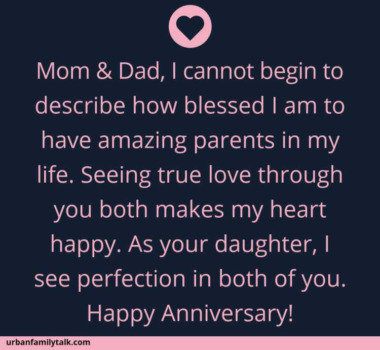 Mom & Dad, I cannot begin to describe how blessed I am to have amazing parents in my life. Seeing true love through you both makes my heart happy. As your daughter, I see perfection in both of you. Happy Anniversary!