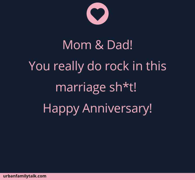 Mom & Dad! You really do rock in this marriage sh*t! Happy Anniversary!