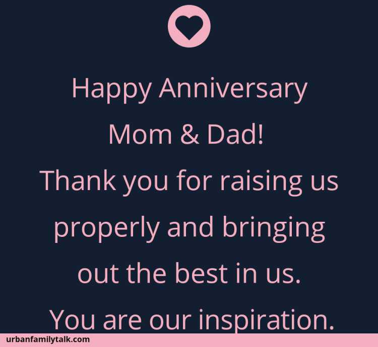 Happy Anniversary Mom & Dad! Thank you for raising us properly and bringing out the best in us. You are our inspiration.