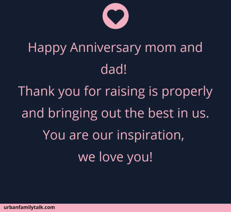 Happy Anniversary mom and dad! Thank you for raising is properly and bringing out the best in us. You are our inspiration, we love you!