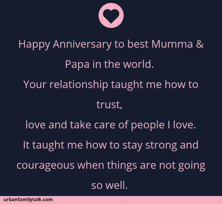 Happy Anniversary to best Mumma & Papa in the world. Your relationship taught me how to trust, love and take care of people I love. It taught me how to stay strong and courageous when things are not going so well. Stay blessed forever!