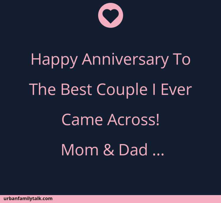 Happy Anniversary To The Best Couple I Ever Came Across! Mom & Dad <3