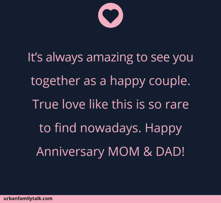 It's always amazing to see you together as a happy couple. True love like this is so rare to find nowadays. Happy Anniversary MOM & DAD!