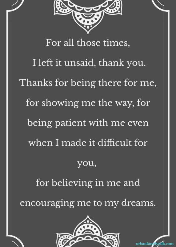 For all those times, I left it unsaid, thank you. Thanks for being there for me, for showing me the way, for being patient with me even when I made it difficult for you, for believing in me and encouraging me to my dreams.
