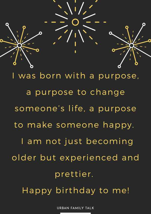 I was born with a purpose, a purpose to change someone's life, a purpose to make someone happy.  I am not just becoming older but experienced and prettier. Happy birthday to me!
