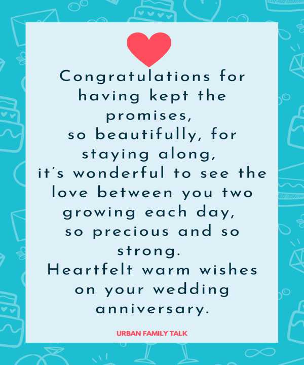 Congratulations for having kept the promises, so beautifully, for staying along, it's wonderful to see the love between you two growing each day, so precious and so strong. Heartfelt warm wishes on your wedding anniversary.