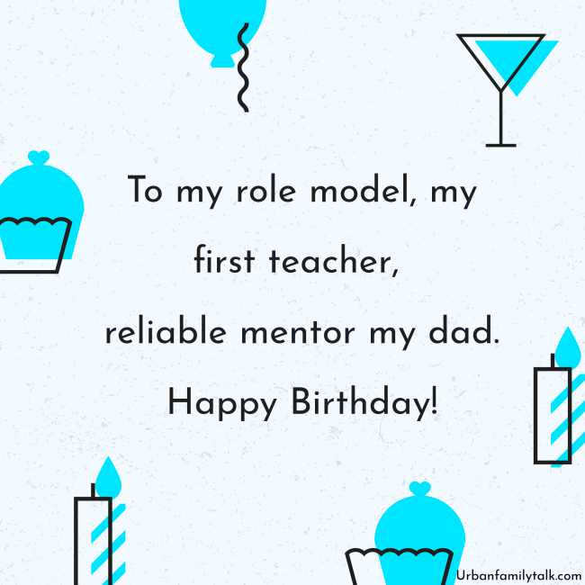 To my role model, my first teacher, reliable mentor my dad. Happy Birthday!