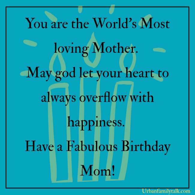 A Loving and Caring Mom like you is all what I need in my Life. I Love you so much Mummy. Happy Birthday!