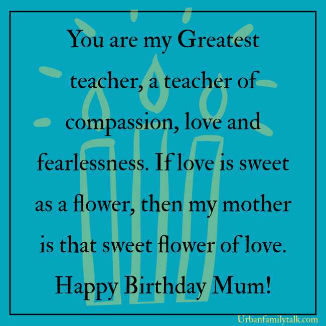 God has given me the best gift of my life. Thank you for everything Mom! Wish you a Very Happy Birthday!