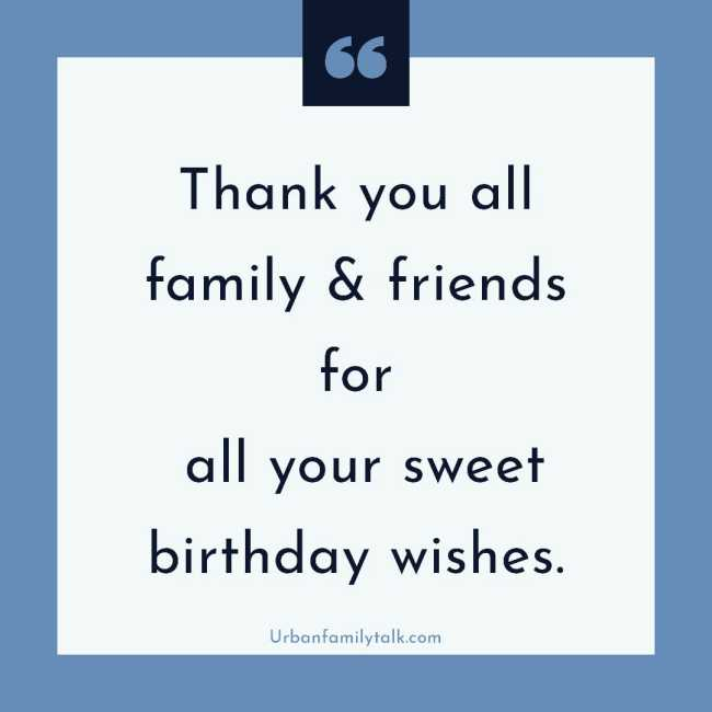 Thanks so much for all the wishes. You made my birthday all more special.