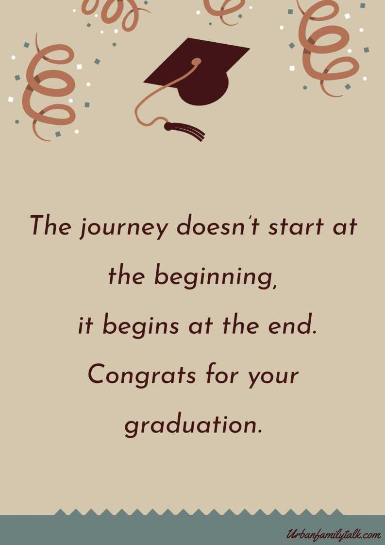 The journey doesn't start at the beginning, it begins at the end. Congrats for your graduation <3
