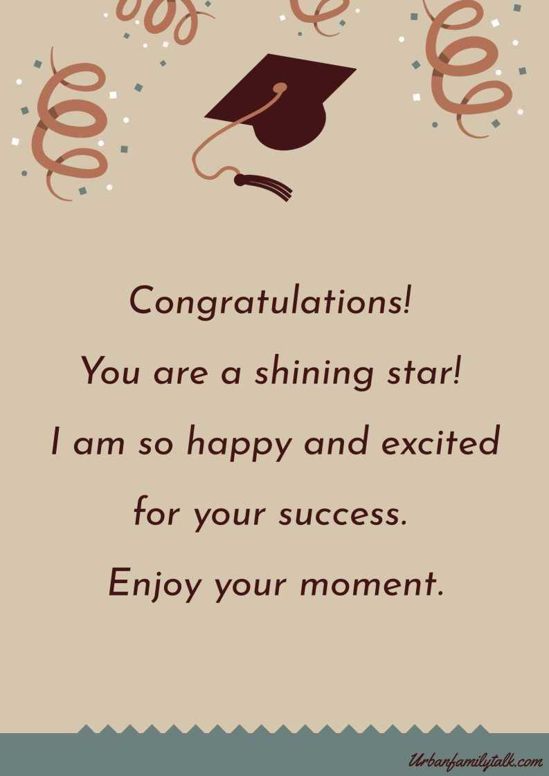 Congratulations! You are a shining star! I am so happy and excited for your success. Enjoy your moment.
