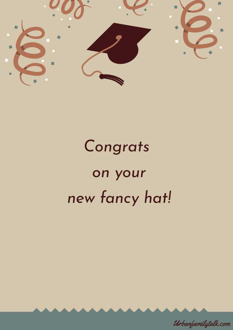 Congrats on your new fancy hat!