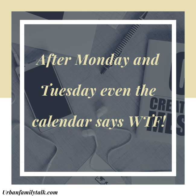 After Monday and Tuesday even the calendar says WTF!