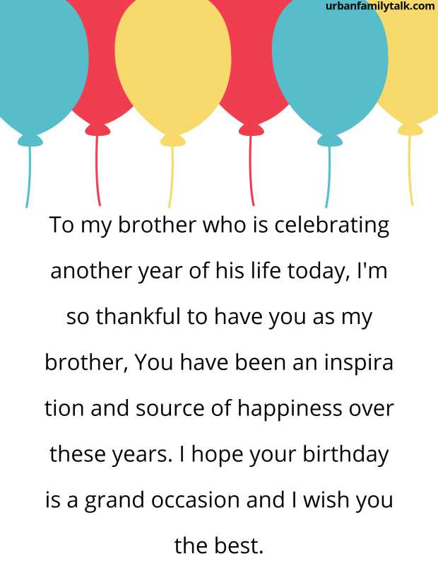 To my brother who is celebrating another year of his life today, I'm so thankful to have you as my brother, You have been an inspiration and source of happiness over these years. I hope your birthday is a grand occasion and I wish you the best.