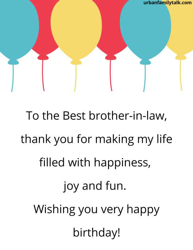 To the Best brother-in-law, thank you for making my life filled with happiness, joy and fun. Wishing you very happy birthday!