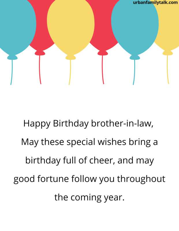 Happy Birthday brother-in-law, May these special wishes bring a birthday full of cheer, and may good fortune follow you throughout the coming year.