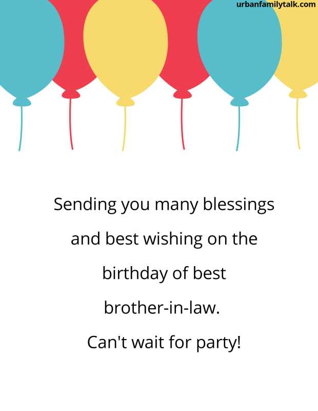 Sending you many blessings and best wishing on the birthday of best brother-in-law. Can't wait for party!