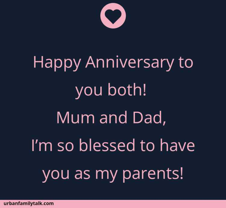Happy Anniversary to you both! Mum and Dad, I'm so blessed to have you as my parents!