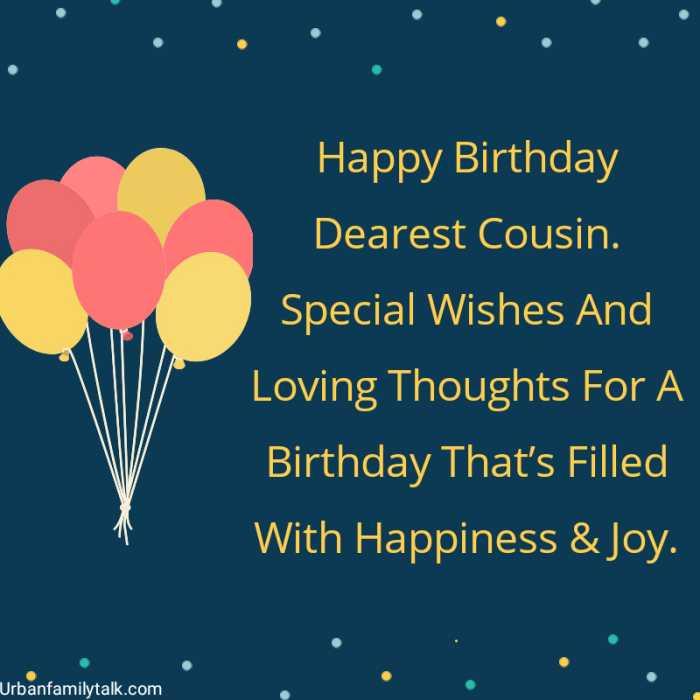 Happy Birthday Dearest Cousin. Special Wishes And Loving Thoughts For A Birthday That's Filled With Happiness & Joy.