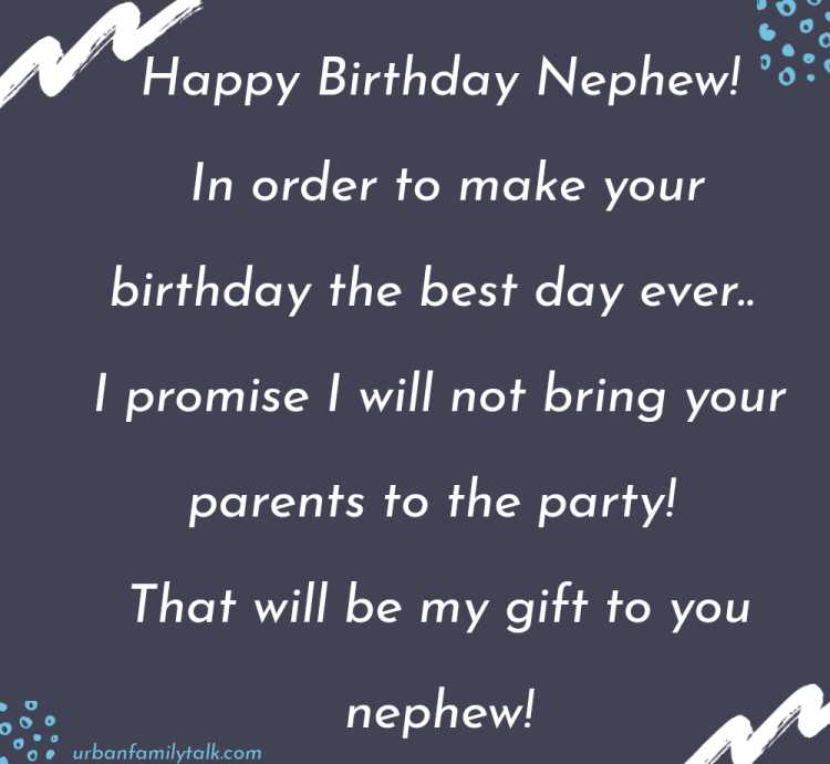 The best thing I get to do in life is love and pamper you nephew. It truly brings me joy. Happy birthday Nephew!