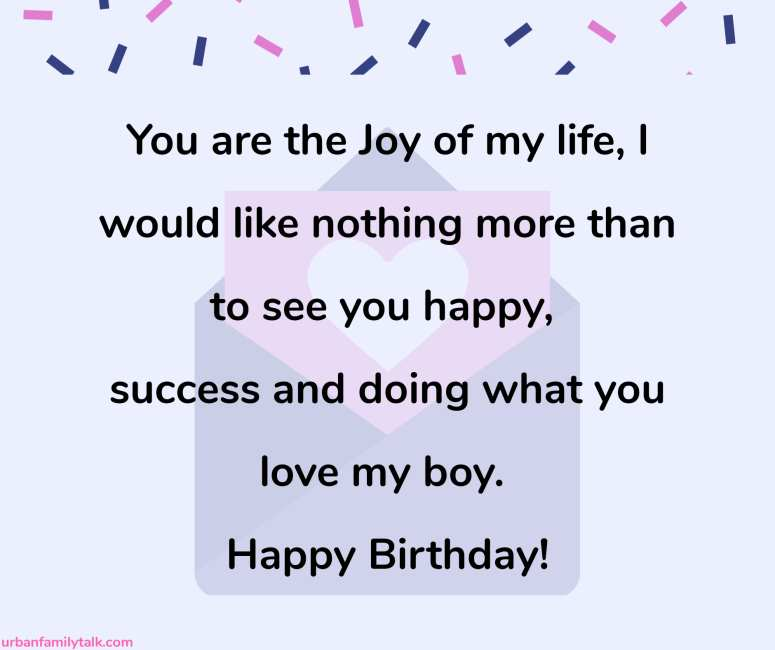 Son, may every wish and dream that you have not only came true but also lead to an amazing future for you. Happy Birthday!