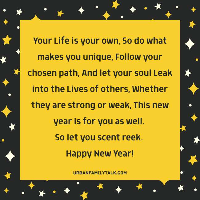 May you have a year that is filled with love, laughter, brightness and hope. Wishing you a Happy New Year!