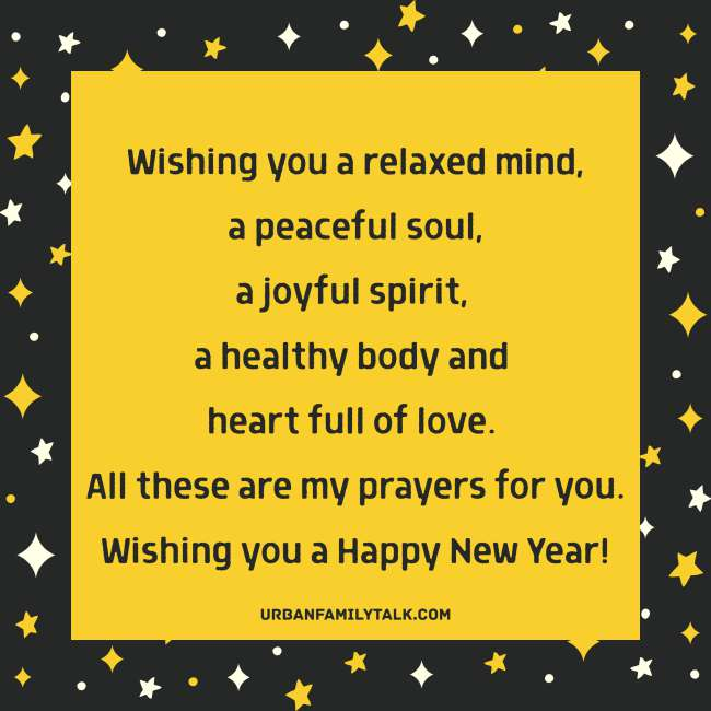 I wish you another year of Joy, Peace and Happiness. Happy new year!