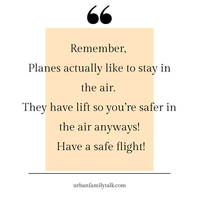 Remember, Planes actually like to stay in the air. They have lift so you're safer in the air anyways! Have a safe flight!