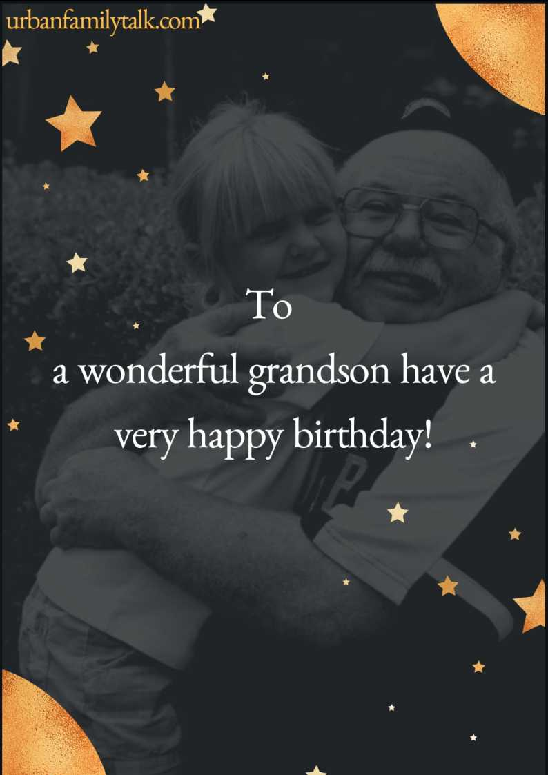 To a wonderful grandson have a very happy birthday!