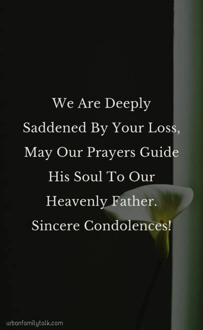 We Are Deeply Saddened By Your Loss, May Our Prayers Guide His Soul To Our Heavenly Father. Sincere Condolences!